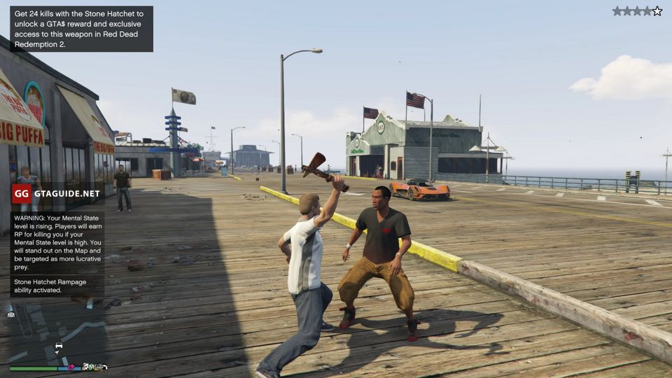 Bounty Hunting in GTA Online — How to Get the Stone Hatchet
