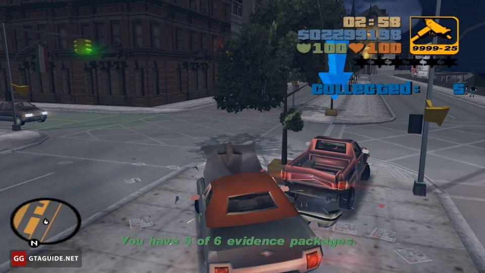 Evidence Dash Gta 3 Gta Guide